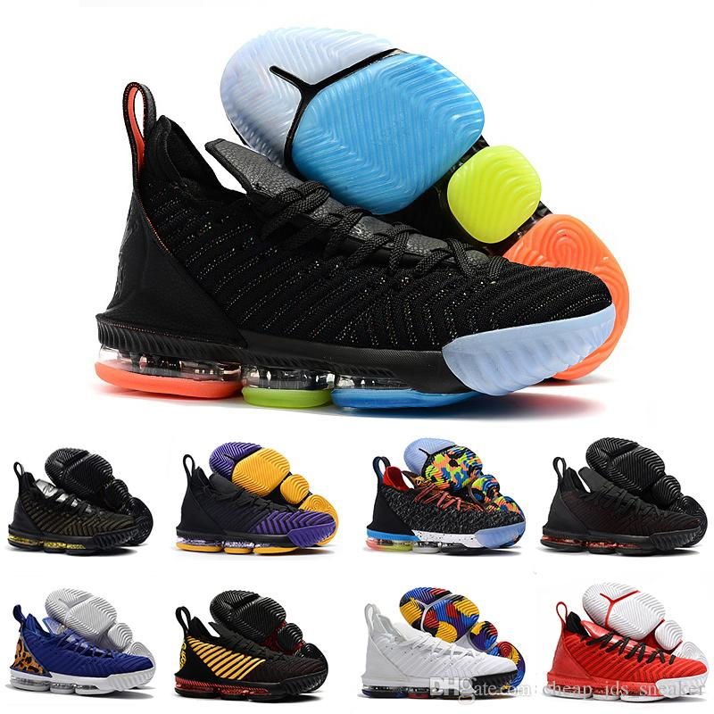 5fb3f9dbbcdf Mens Lebron Shoes 16 Basketball Shoes Multi Color Fruity Pebbles Gold Black  Purple Leopard Red Boys Girls Women Youth Kids Sneakers Boots Canada 2019  From ...
