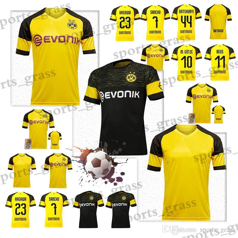 c6fe67123 2019 2019 Dortmund Away Soccer Jersey 18/19 #11 REUS Away Black Soccer Shirt  Customized #22 PULISIC #10 M.GOTZE Football Uniform On Sales From  Sports_grass, ...