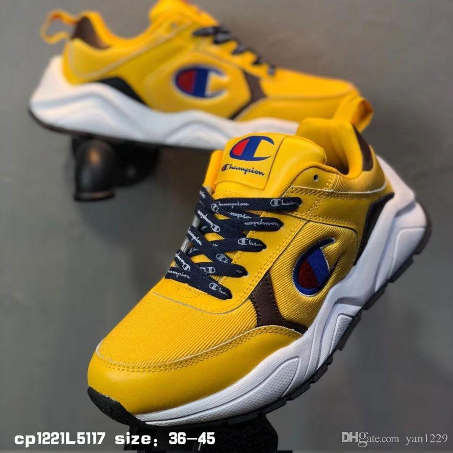 71287918b1e4c Hot Sale Champion 93 Eighteen Suede Chenille Running Shoes Men Women ...