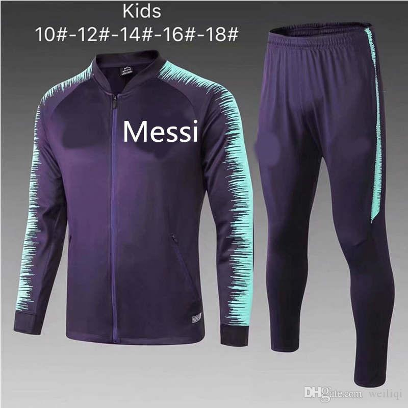Compre 10 Trajes DHL Gratis 18 19 Barcelona Niños Chándal 2019 FCB  Sportswear Coutinho Messi Trajes De Entrenamiento Infantil Camiseta De  Fútbol Barcelona ... a778e93b538