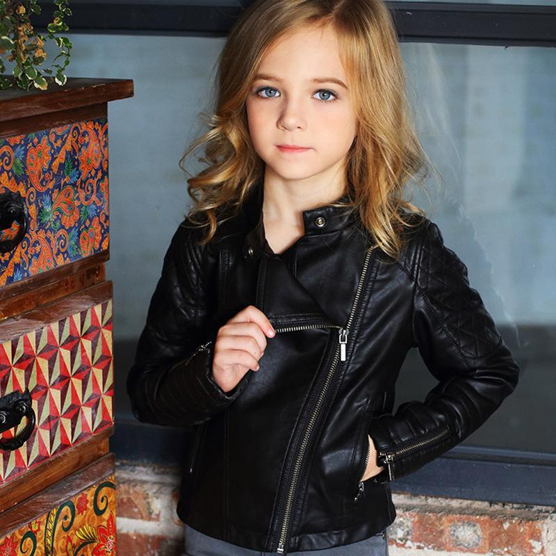 3edc72a94f Giubbotto per bambino Giubbino in finta pelle Giubbotto in PU per bambini  Moda abbigliamento da moto Cappotto per bambini Cappotti e giacche da donna