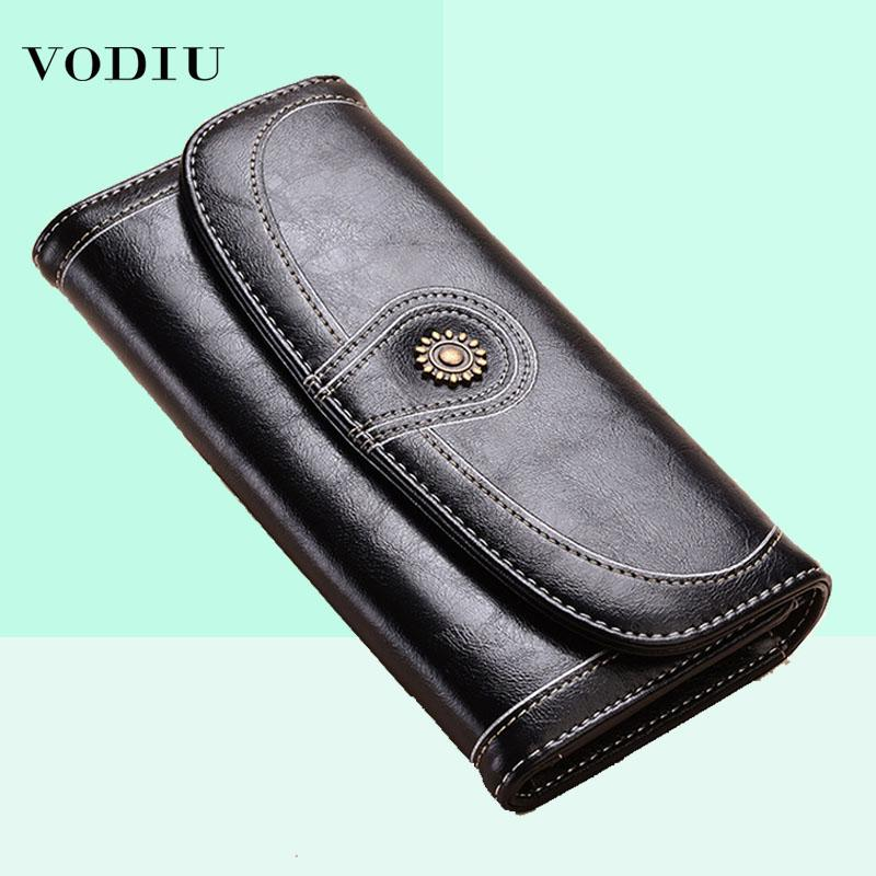 87f91f93725ad 2018 New Vintage Button Phone Purses Women Purse Female Wallets ...