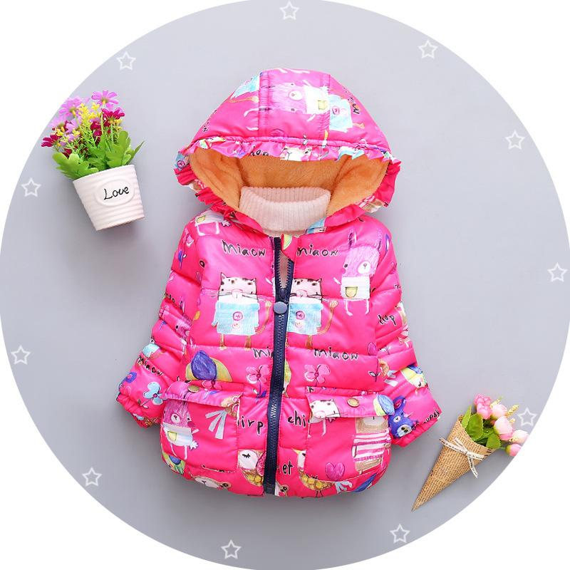 b47a169f7 quality 2019 Winter Jacket for Baby girls Coat Kids Parka Catoon Hooded  Animal Snow Suit Children's Winter Jacket