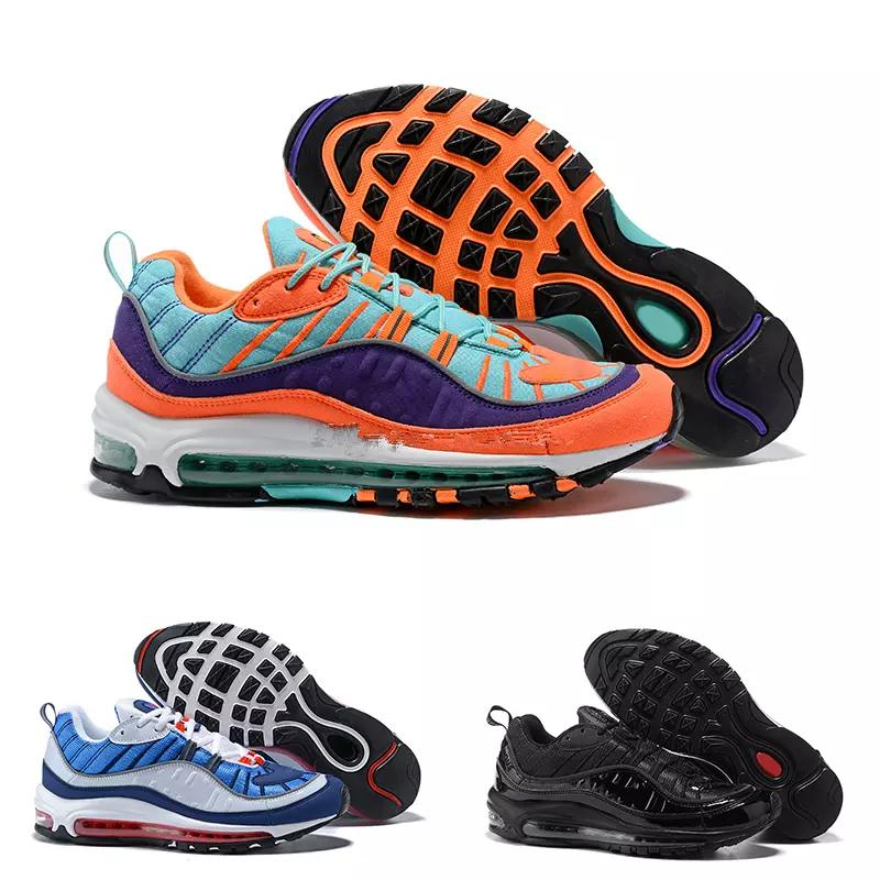 info for b1071 92712 PearlDiary AIR QS MAX 98 Men s Running Shoes, Blue & Purple & Orange,  Absorption Breathable Wear-resistant slip 924462 800