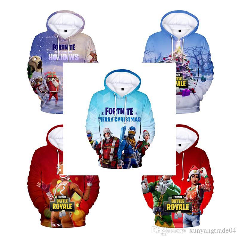 christmas fortnite battle royale cartoon hoodie 3d digital print long sleeve hoodies sweatshirts casual sport men women tops 137 online with 16 11 piece on - fortnite update 1611