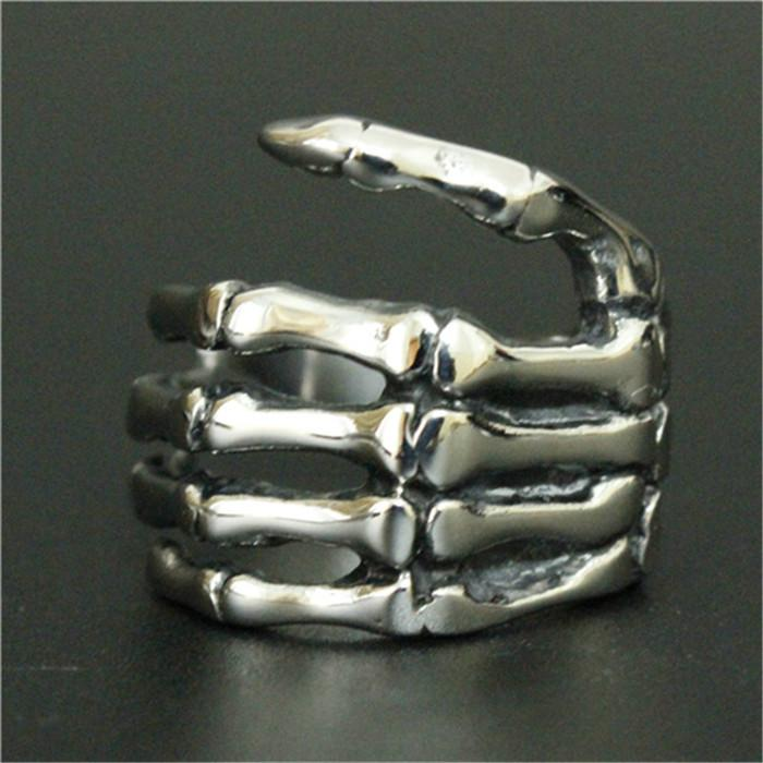 size 7-15 Support Dropship Claw Ring 316L Stainless Steel Jewelry Cool Men Punk Style Claw Ring
