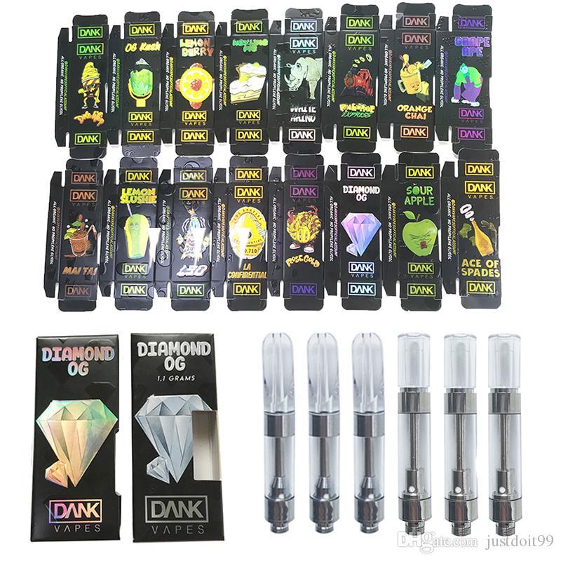Hologram Dank Vapes Vape Cartridge Packaging Black Dank G5 Thick Oil Dab  Wax Vaporizer Empty Vape Pen Cartridges Ecig Atomizer 510 Battery