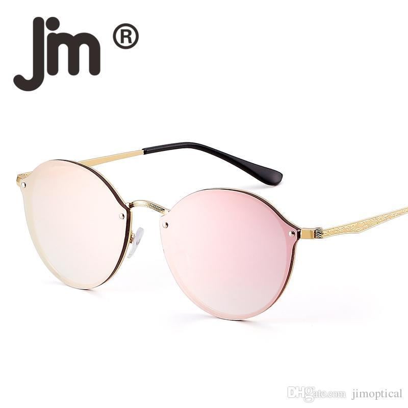 Men Design Lunettes De Retro Round Lightweight Brand Mirror Fashion Soleil Sun Metal Sunglasses Rimless Glasses Women vPy8nwmN0O