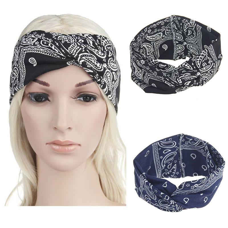 Bohemian Ethnic Style Hair Bands For Girls Cotton Turban Rock Cool Women  Men Bandana Headband Elastic Hairband Haar Accessoires Girls Hair  Accessories Hair ... 8298d2cac01
