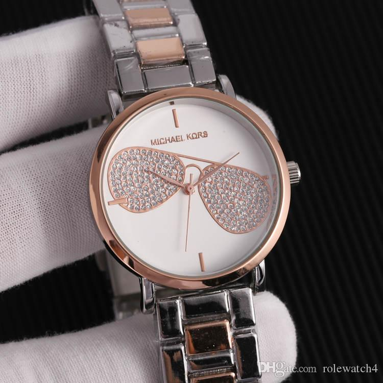 ec6d216a7f1c 2019 Luxury Famous michae Mujeres Rhinestone Relojes Moda Vestido de lujo m  k Ladies Watch kor Dial Hombre bolsa DZ dw Relojes