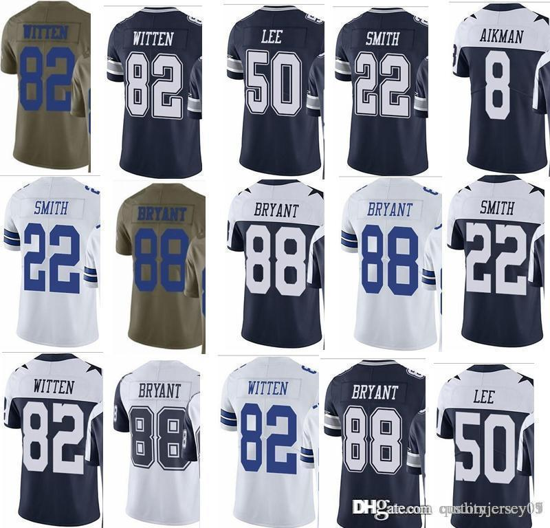 watch 272d1 3ac6d Cowboys Dallas #82 Jason Witten #88 Dez Bryant #50 Sean Lee Mens Vapor  Untouchable Football Jersey 2017 Salute to Service Football Wear