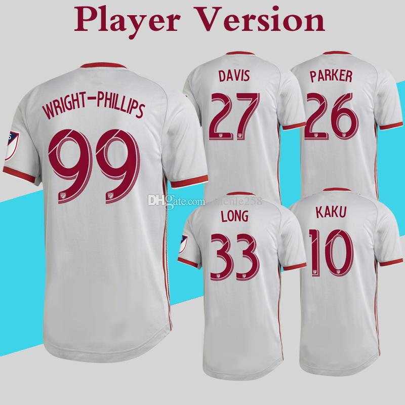 b75ce3bad9a 2019 Player Version 2019 New York Red Soccer Jersey Home Silver Gray  Football Shirt WRIGHT PHILLIPS KAKU MLS Bulls More Free DHL Shipping From  Chenle258
