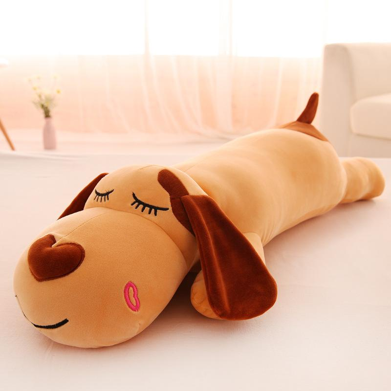 kawaii soft stuffed plush toys for gifts New pillow creative lying dog doll plush toy doll lying dog can wash big head dog