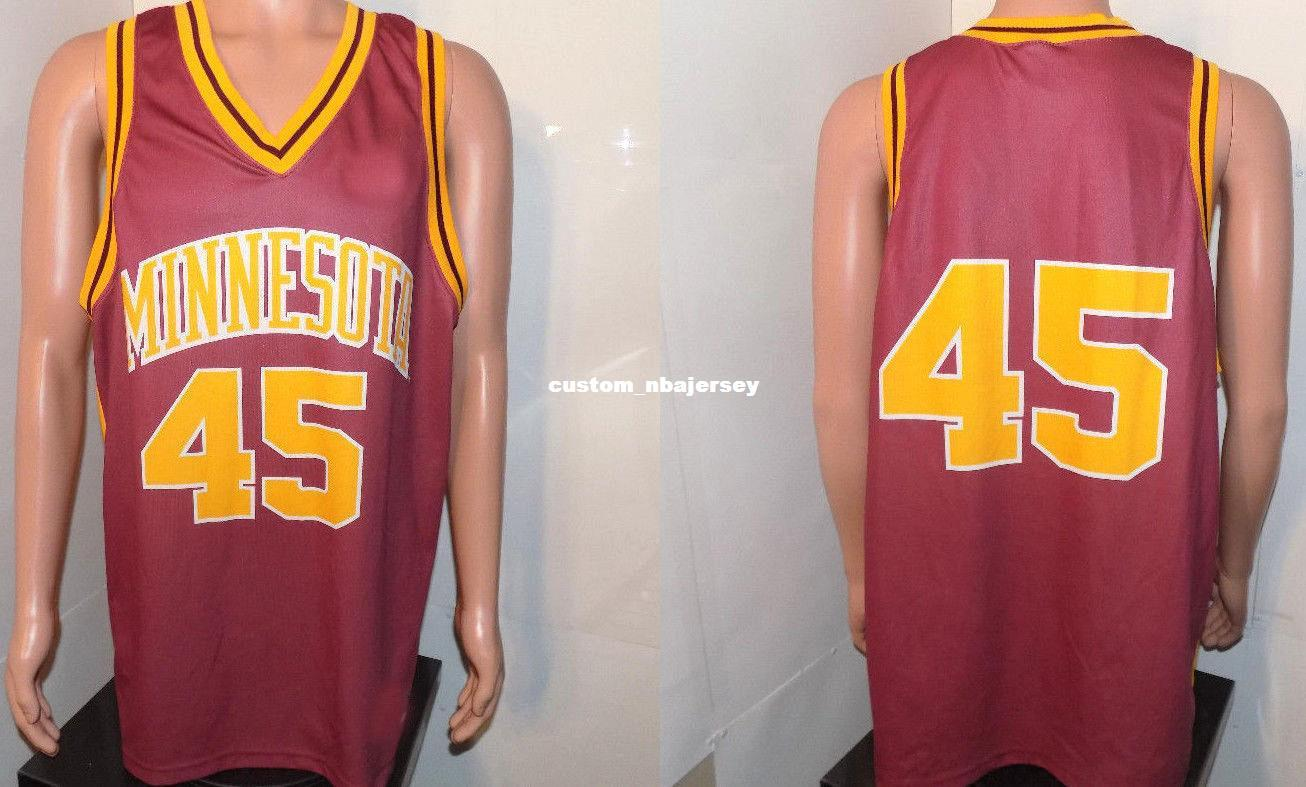 116746f7b Cheap custom Minnesota Gophers Vtg Team Basketball Jersey 90's NCAA Maroon Gold  Stitched Customize any number name MEN WOMEN YOUTH XS-5XL
