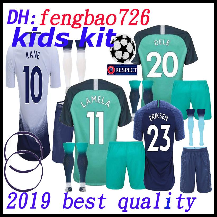 buy popular 98b8c dc5fa kids kit Top thailand quality KANE spurs Soccer Jersey 2018 2019 LUCAS  ERIKSEN DELE SON jersey 18 19 Football kit shirt uniform