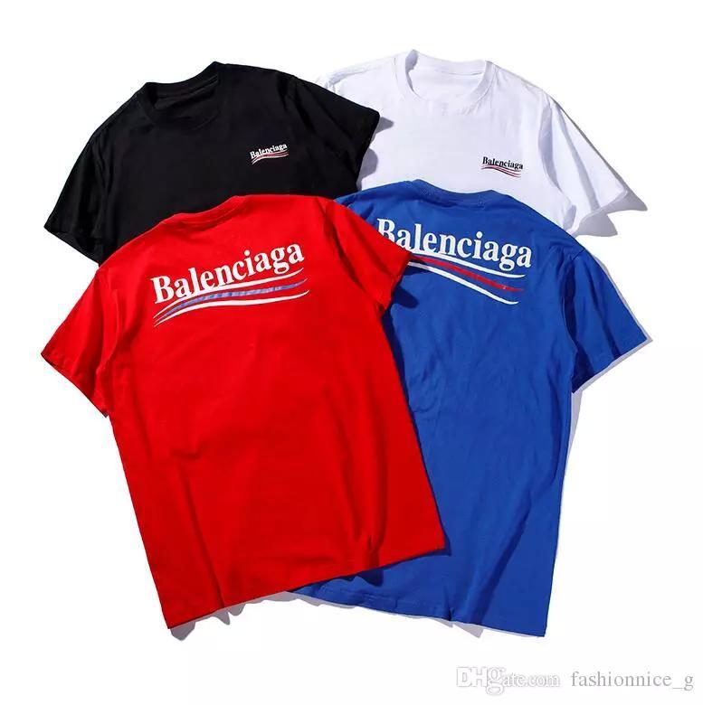 30f7adb01c8c Nueva moda para mujeres y para hombres Camiseta informal Marca de impresión  de verano Tops de manga corta Niños y niñas Camisetas B8141