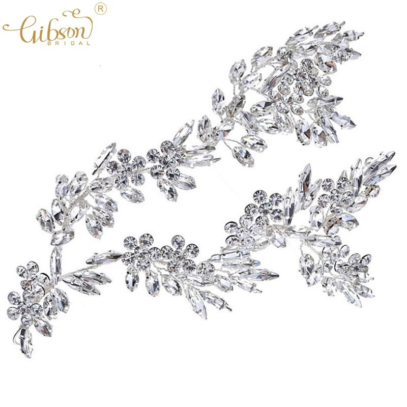 Shiny Fashion Bridal Side Hair Vine Accessories Rhinestone Wedding Headdress Hairstyle Party Dress New Headpiece Hair Clip