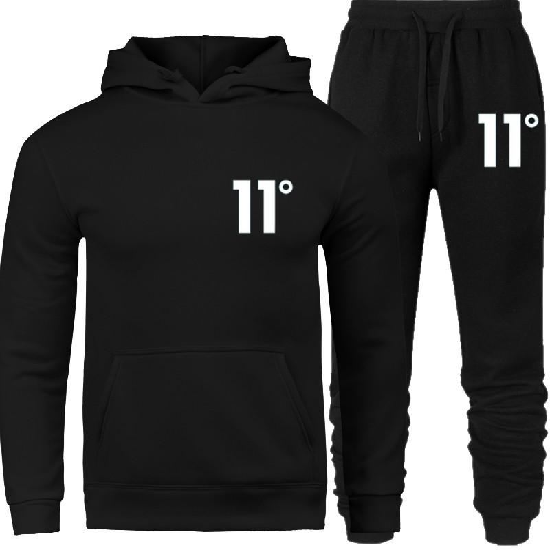 2019 new brand Mens set Tracksuit Hoodies suit Fashion Streetwear Hoodie Sweatshirts Pullover Print 11 Degree sportwear Clothing Off Hip
