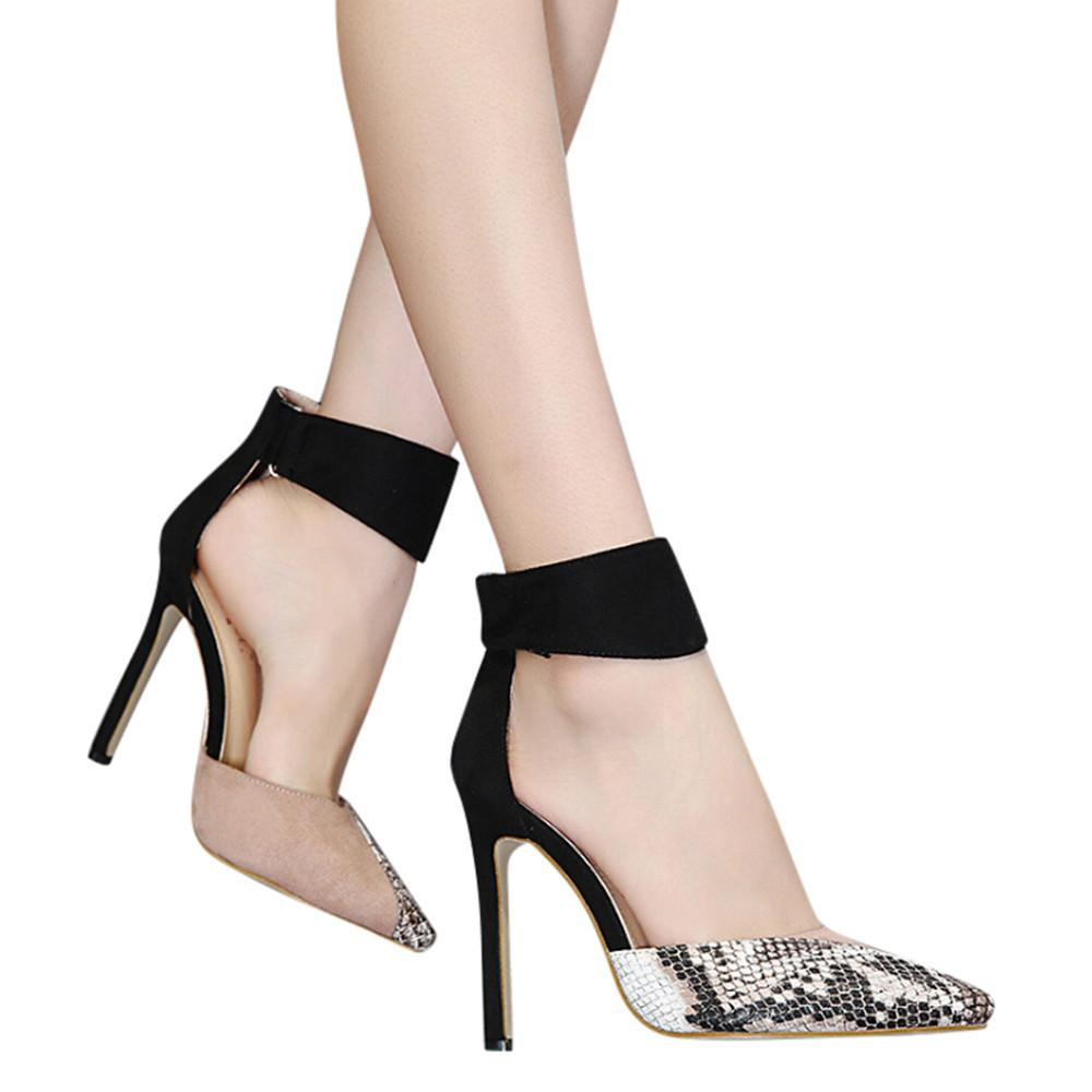 Designer Dress Shoes Youyedian Women S Buckle Strap Party Set Hollow Stiletto  Heels Color Matching High Heel Szpilki Na Platfor g30 Heels Shoes Online  From ... 8172689e2ee9