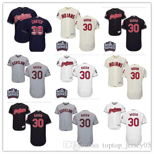 buy popular 32106 6c3c6 2018 Cleveland Indians Jerseys #30 Joe Carter Jerseys men#WOMEN#YOUTH#Men s  Baseball Jersey Majestic Stitched Professional sportswear