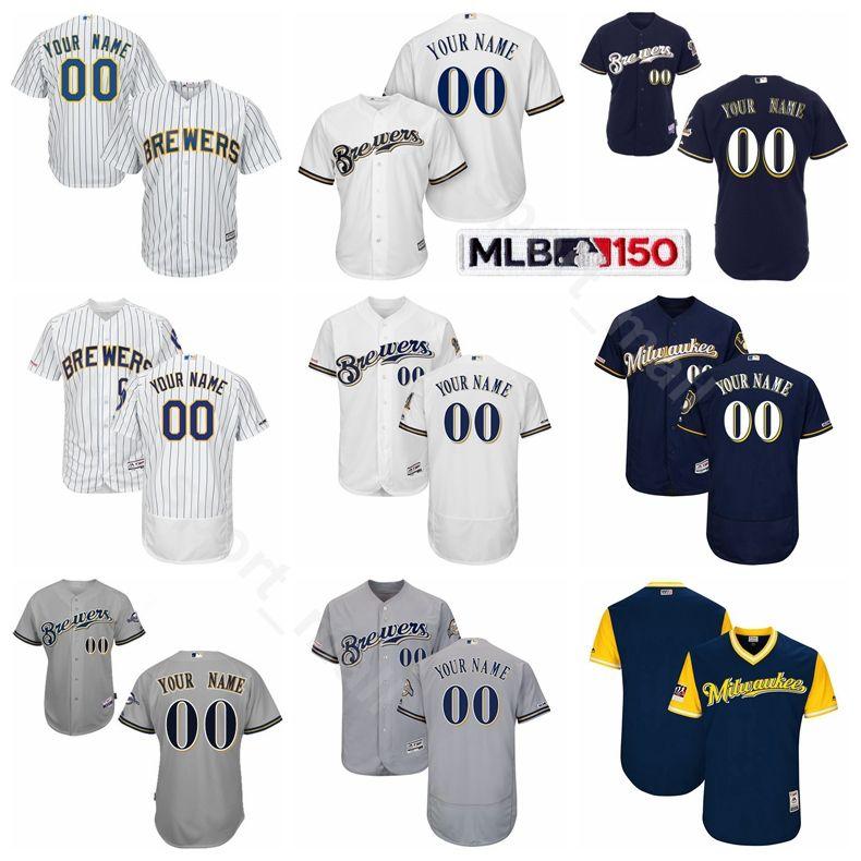 buy popular 7be89 5de3d Milwaukee Baseball Brewers 6 Lorenzo Cain Jersey Flexbase 22 Christian  Yelich 10 Yasmani Grandal 8 Ryan Braun 3 Orlando Arcia 21 Travis Shaw
