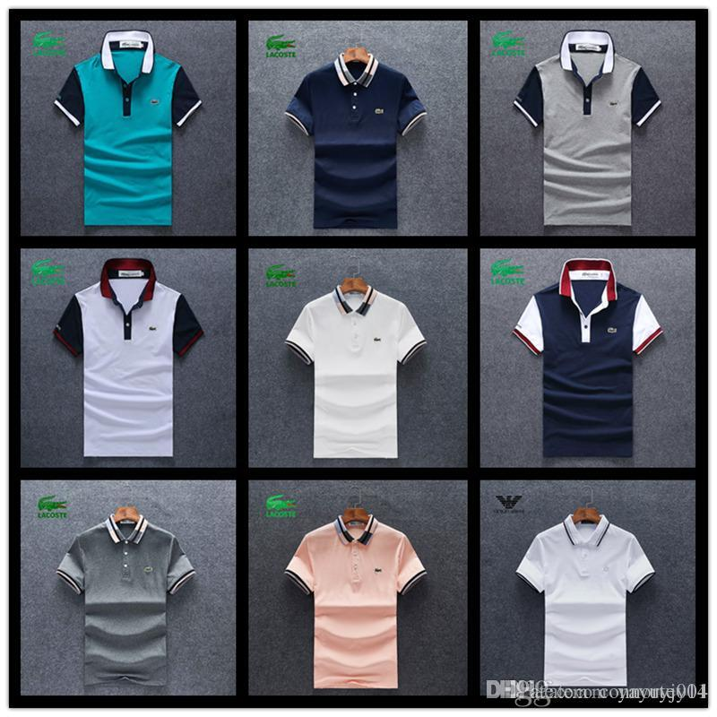 Designer Polo Classique Luxe Lauren Shirts Polos Fashio Ralph Shirt Mens Été Hirts Hommes T 18ss Confortable Coton Marque dBCxero