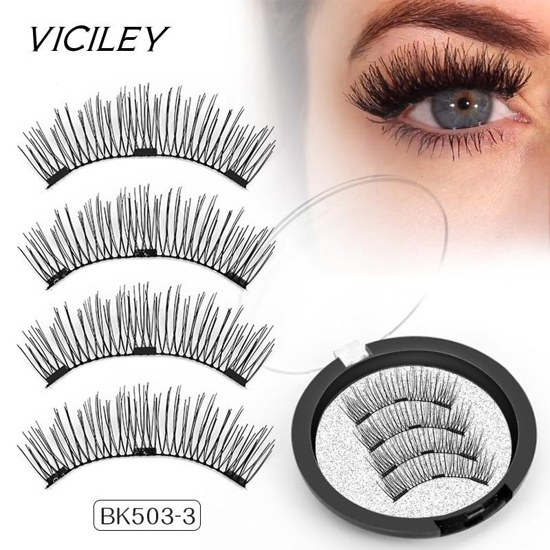 f7ed44b0b93 2019 VICILEY Magnetic Eyelash 3D Definition False Lashes With 3 Magnets Handmade  Cilios Wholesale Volume Eye Lash Extension BK503 C18122701 From Shen8416,  ...