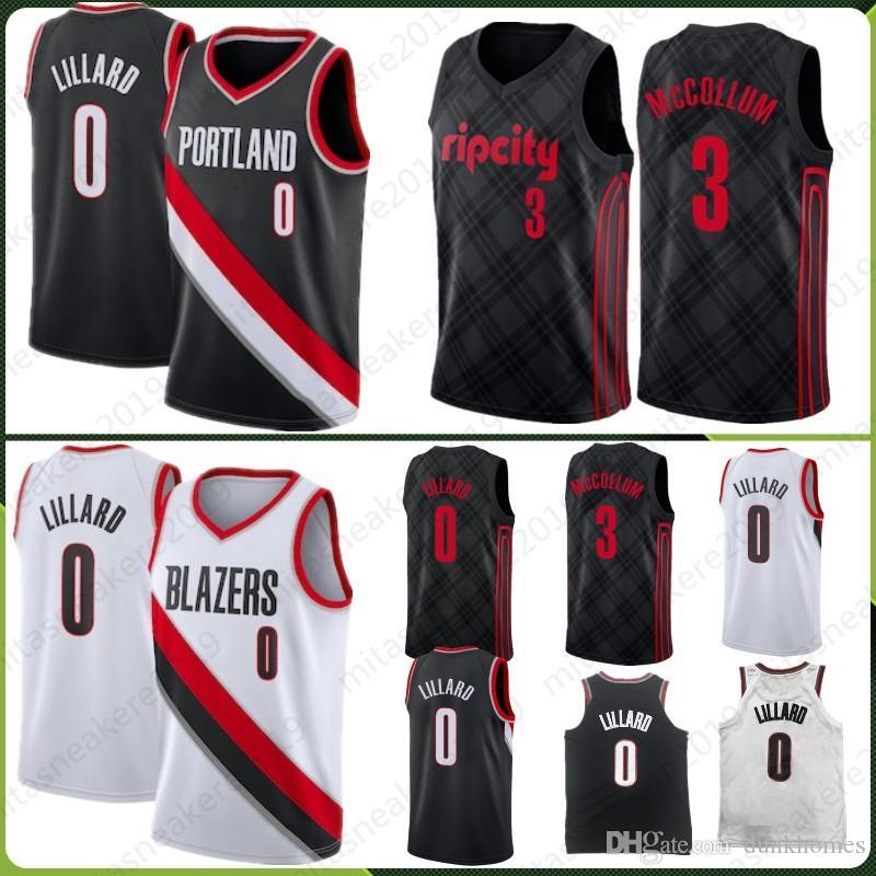 reputable site 9f6f3 d0006 Portland 0 Damian Trail Lillard Jersey McCollum 3 CJ Jersey Rodman 10  Dennis Thomas 11 Isiah Pistons Stitched Top quality Jerseys