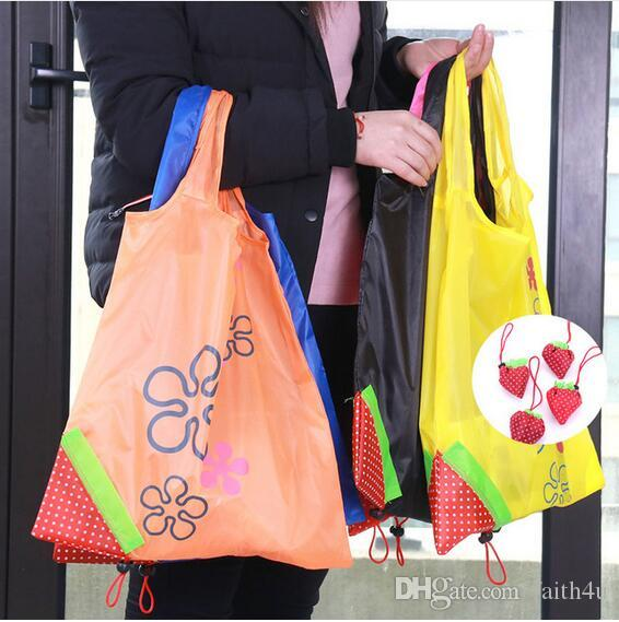 410f1ec37 Eco Storage Handbag Strawberry Foldable Shopping Bags Reusable ...