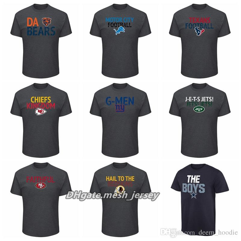 promo code 63b6f 8844d Men Women Youth Bears Jets 49ers Lions Texans Chiefs Giants Redskins  Cowboys Majestic Big amp Tall Safety Blitz T-Shirt