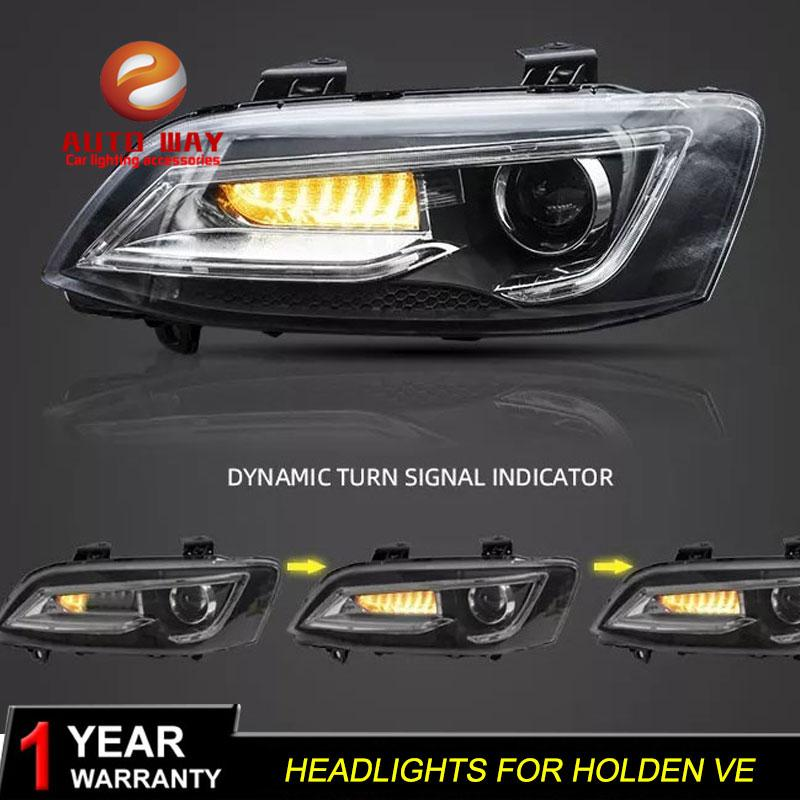 Car Styling-Kopf-Lampe Fall für HOLDEN VE Scheinwerfer 2006-2013 Scheinwerfer holden VE LED-Scheinwerfer DRL Double Beam Bi-Xenon-HID