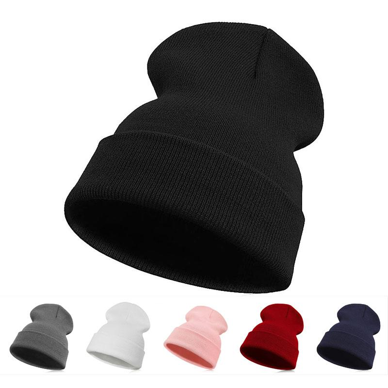 Official Website Slouchy Knitting Beanie Hip Hop Cap Men Women Warm Winter Ski Hat Hat 2018 New Brand Hat Beanie Head Wrap Cap #y10 Men's Hats