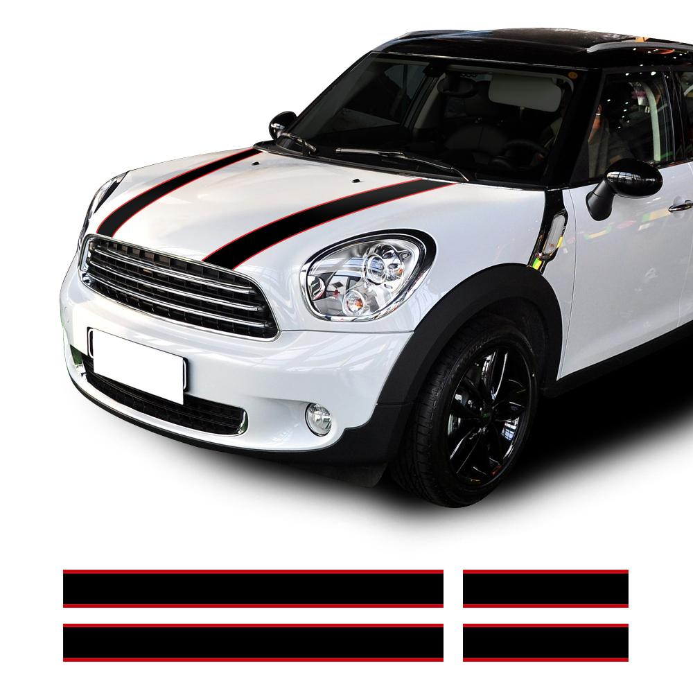 Car hood trunk engine cover rear line vinyl decal bonnet stripe stickers for bmw mini countryman r60 paceman r61 clubman f54