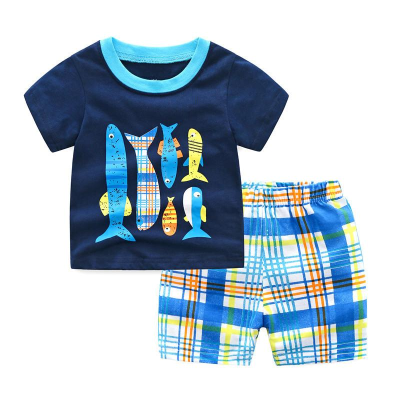 257ba8404dda8 Baby Boys Clothing Sets Summer pj costume Toddler Outfits Children Shorts  Set Sport Suit Kids Clothes Boys 2 3 4 5 6 years