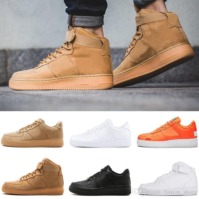 White Brand 1 Utility Classic Black 2019 Dunk Men Women Casual Shoes Red One Sports Skateboarding High Low Cut Wheat Trainers Off Sneakers
