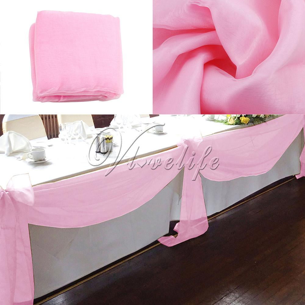 10M x 1.4M Top Table Swags pure Organza Swag Tissu Noce Décorations De Table D'arc De Bricolage