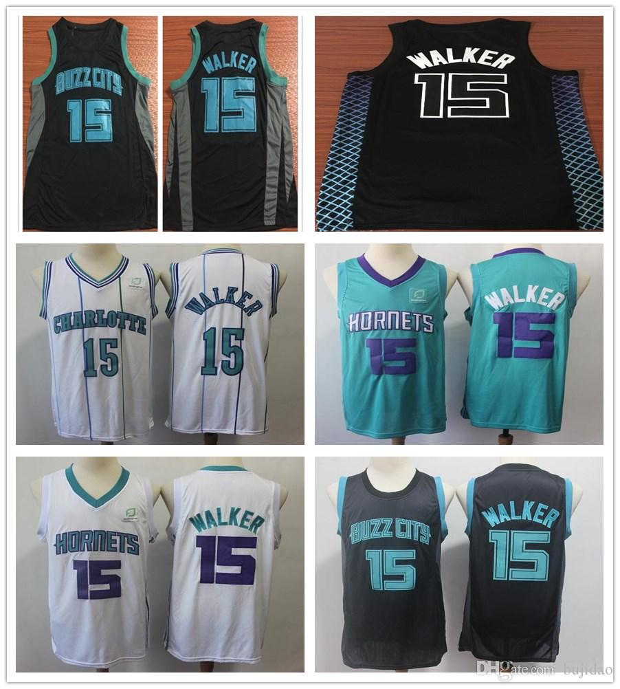 3e6adb3dbbf ... new arrivals 2019 new city edition black 15 kemba walker jersey cheap  green white stripe stitched
