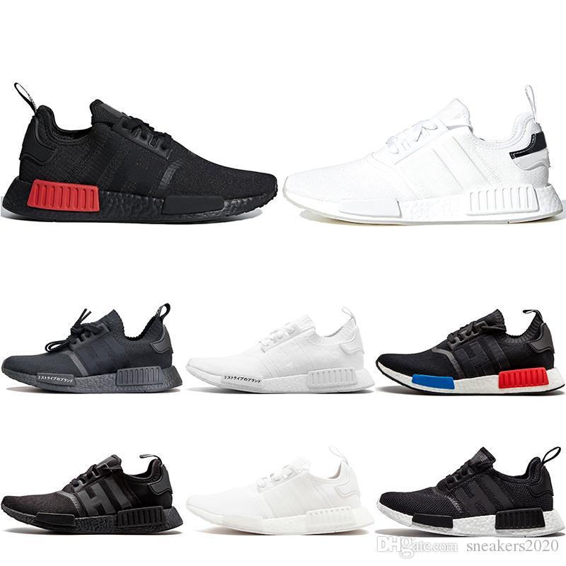 NMD R1 Running Shoes For Men Women OG Japan Triple Black White Solar ... 5dcdcced4