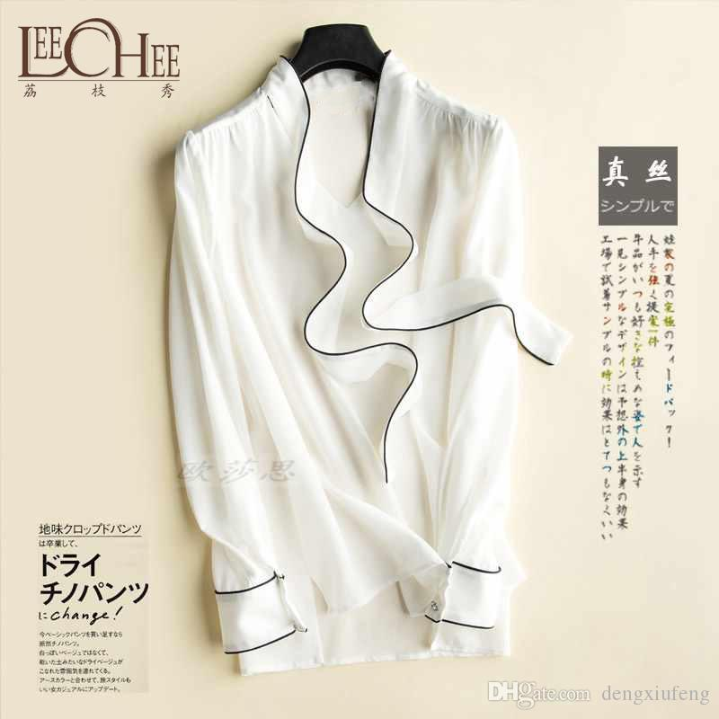 319f1ef21c0ff Leechee Women S Sleeveless Nature Silk Shirt Bottoming Vest Bow Tie Ribbon  Coloring Loose Tops OSCT 170301 Best T Shirts Sites Quirky T Shirt From ...