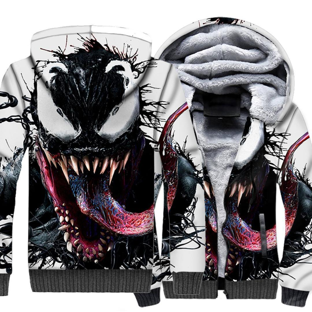 92ebb4b2 2019 Venom 3D Printed Sweatshirt Zipper Hoodies Cosplay Costume Marvel  Unisex Winter Casual Hoodie For Child Hoodie Streetwear From Xianfeiyu, ...