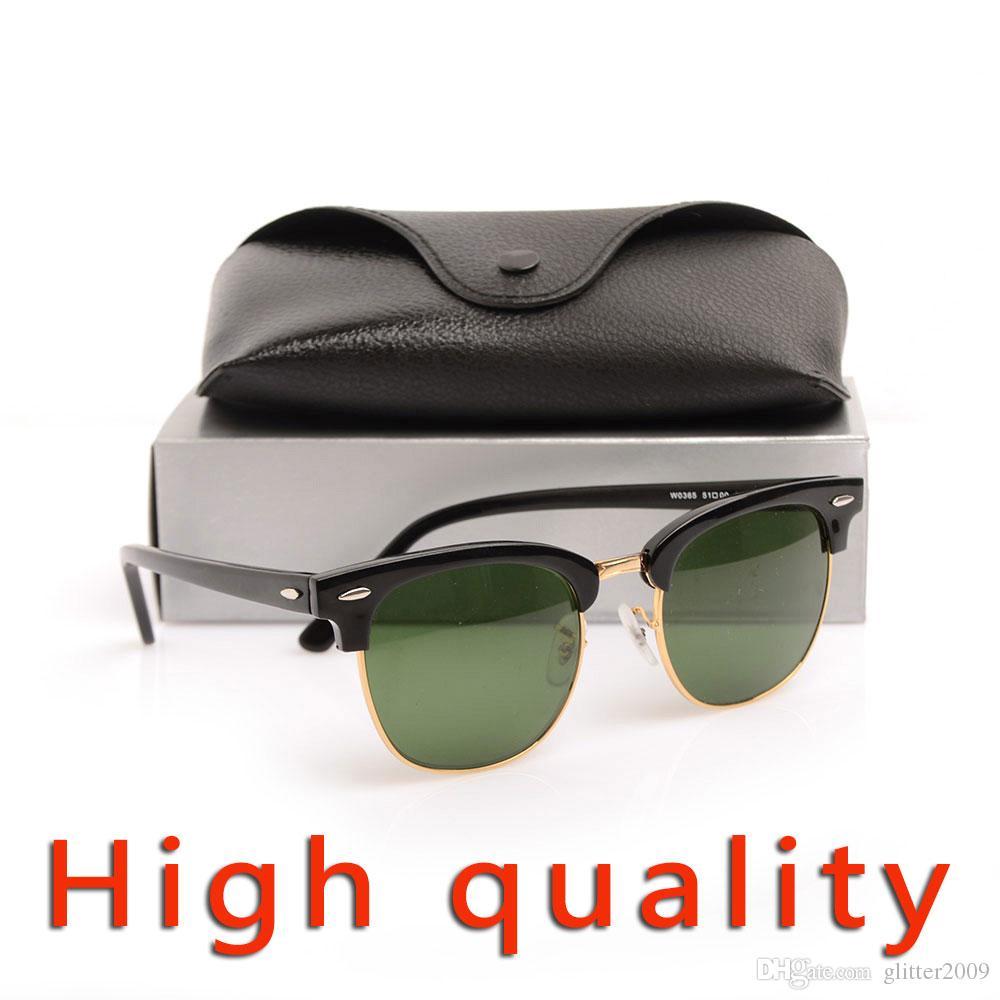 cb18228358 Compre High Quanlity Gafas De Sol Bisagra De Metal Gafas De Sol Negras Gafas  De Sol De Cristal Lente De Cristal Gafas De Sol Para Hombre Gafas De Sol De  ...