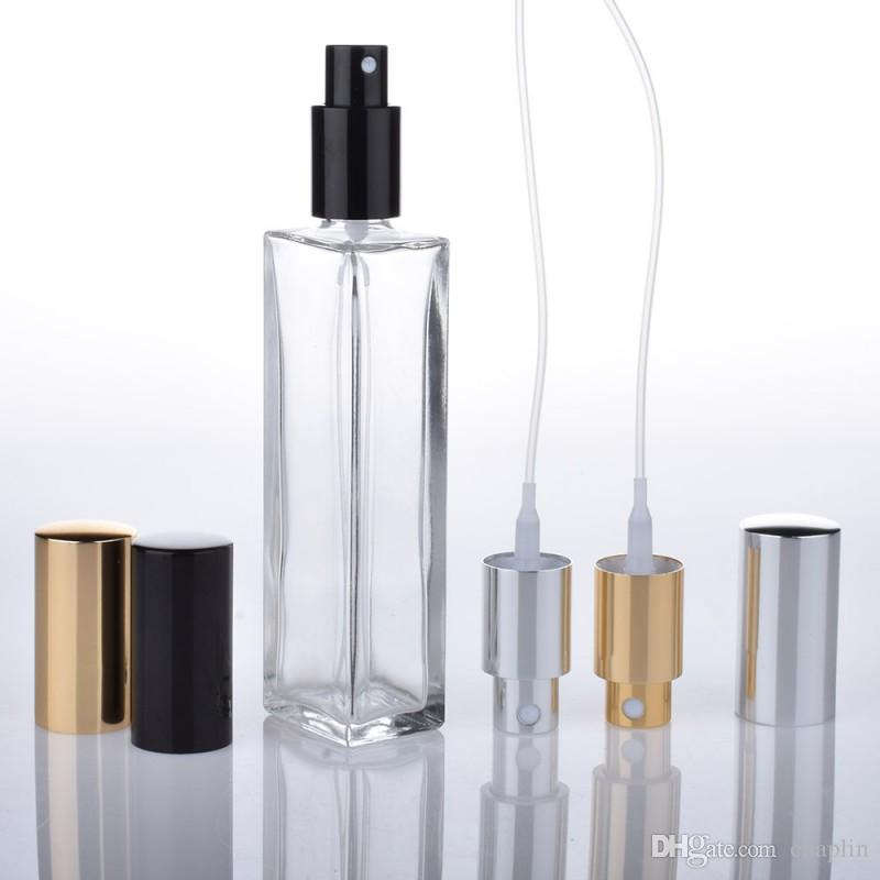 d5873005c5f7 3.4 oz (100ml) Slim Long Clear Glass Empty Refillable Replacement Glass  Perfume Atomizer or Cologne Spray Bottle with Gold Silver Sprayer