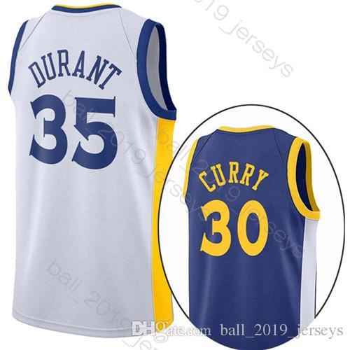1d2dd04526c 2019 35 Durant 30 Curry Jersey Warriors Jersey 23 Green 11 Thompson 9  Lguodala Hot Sale Men Basketball Jersey From Ball 2019 jerseys