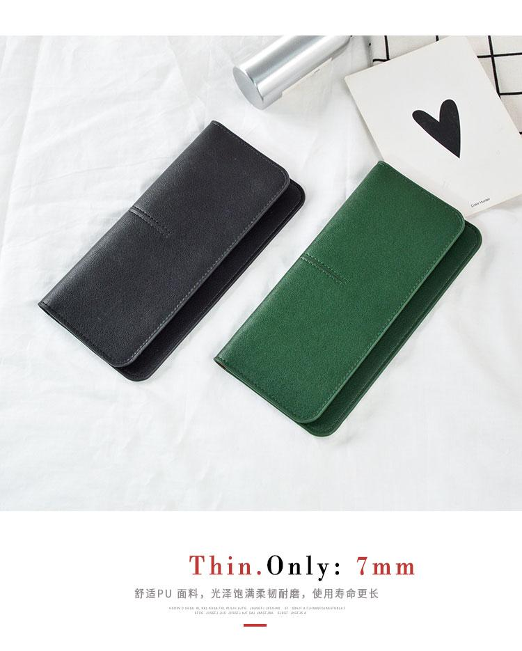 AOEO Slim Wallet Female Minimalist Design Super Thin 7mm Candy Color PU Leather Ladies Purse Money Bag Simple women wallets Girl