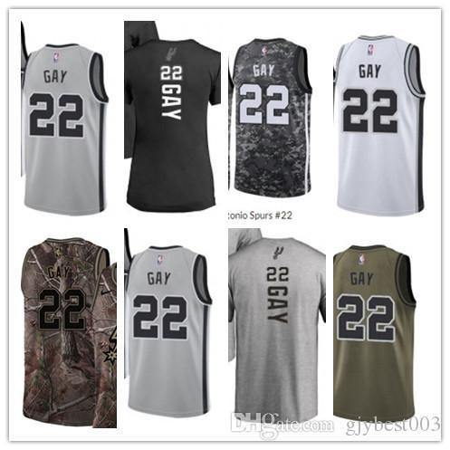 the best attitude 48c8a a366f custom best 2018 Basketball Wear Men's San Antonio Spur#22 Rudy Gay Yellow  Jersey - City Edition Basketball Jerseys