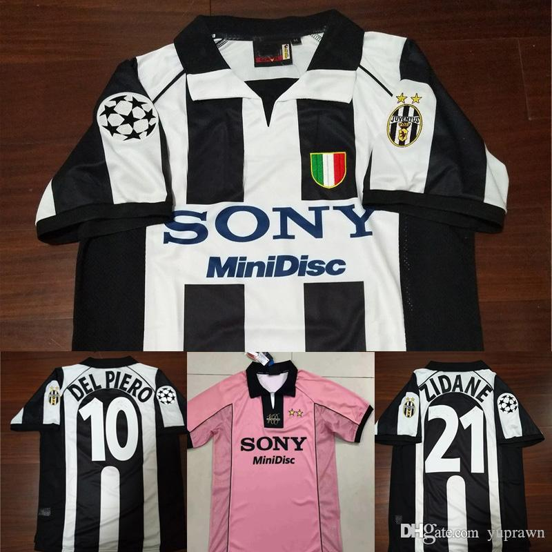 c79a25d9dd8 2019 97 98 Juventus Zidane Retro Soccer Jersey Vintage Conte Inzaghi  10  Del Piero 1998 Juve Calcio MAGLIA Deschamps Davids Football Shirts From  Yuprawn