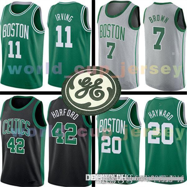 separation shoes 51822 d4040 MENS Boston Jersey Celtic 11 Kyrie Mens Irving Basketball Jerseys Gordon 20  Hayward Jaylen 7 Brown Al 42 Horford Jayson 0 Tatum Adult