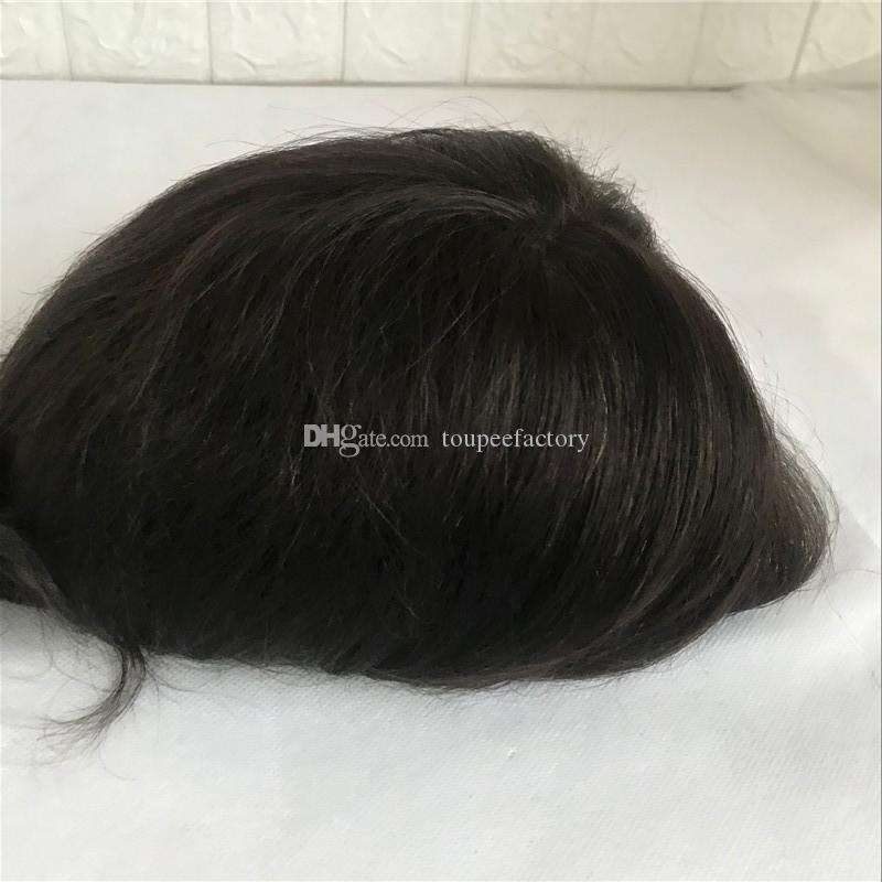 b832c16c54 2019 Full Pu Men  S Toupee Fine Pu Toupee High Quality Men S Wig  8 10  Durable Remy Hair For Men Can Be Customized Replacement Systems From  Toupeefactory