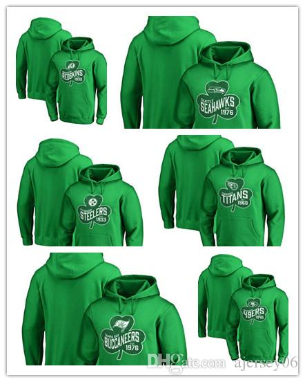 quite nice 0a50d 908c1 New Steelers 49ers Seahawks Buccaneers Titans Redskins Pro Line by Brand  Paddy's Pride Pullover Hoodie Green Men's Sweater Outdoor Sportswe