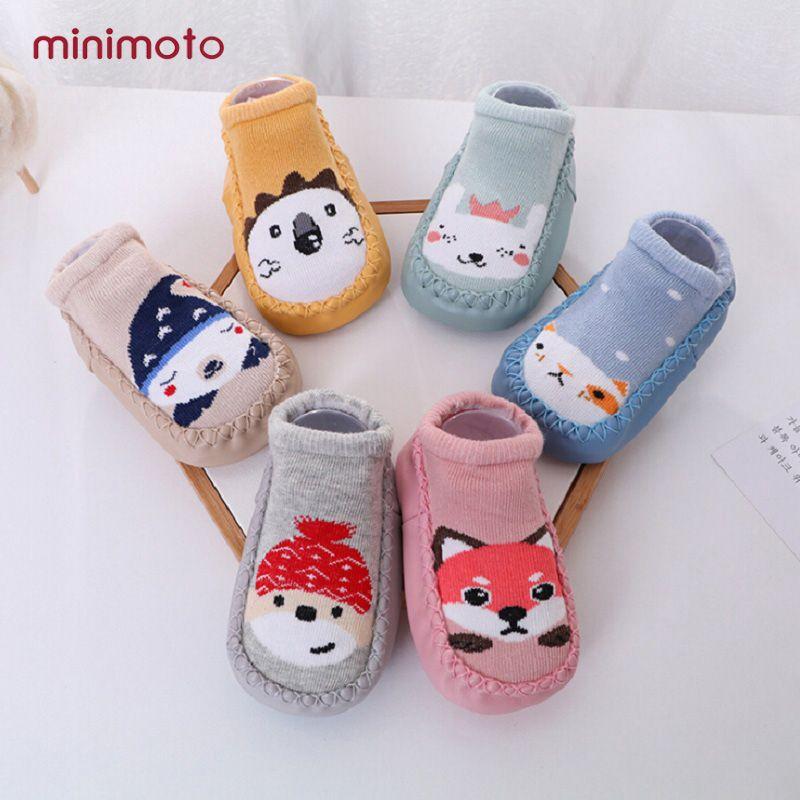 0cf0bb841 Newborn Baby Socks Shoes Anti Slip Girl Boy Cotton Animals Warm Rubber Sole  Soft Toddler Indoor Infant Sock Children Kids Winter Wool Dress Socks Great  ...